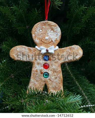 adorable gingerbread man christmas tree ornament