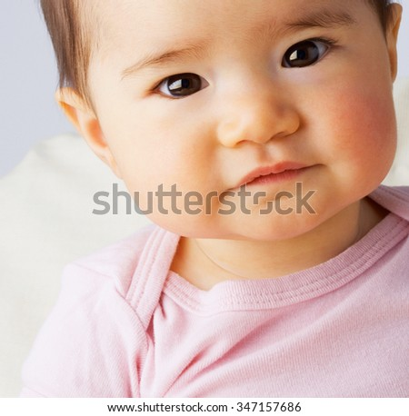 adorable happy cute smiling baby  - stock photo
