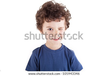 Adorable kid over with background - stock photo