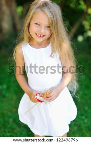 Adorable little girl portrait - stock photo