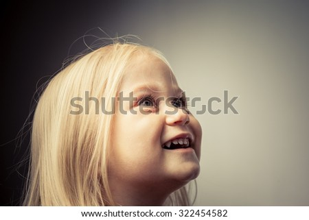 Adorable little girl smiling.  invention - stock photo