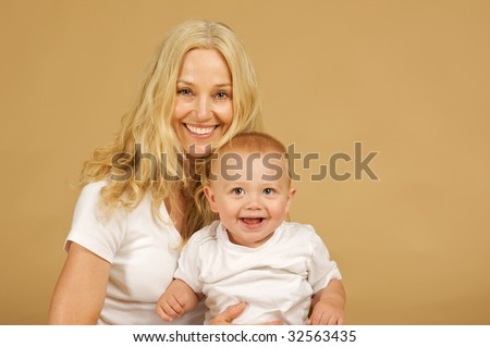 Adorable Mother and Child, with big smiles
