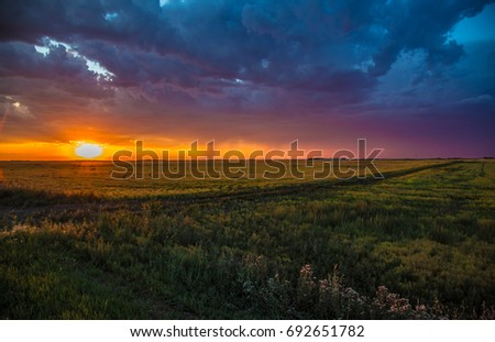 Adorable Sunset in Regina - Saskatchewan - Canada