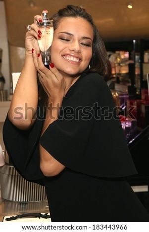 Adriana Lima at Adriana Lima Unveils Victoria's Secret Dream Angels Wish Fragrance, Victoria's Secret Herald Square Store, New York, October 21, 2008 - stock photo