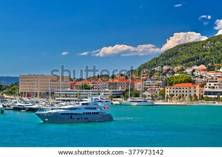 Adriatic coast in Split yachting destination, Dalmatia, Croatia