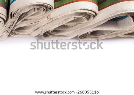 Ads, press, white. - stock photo