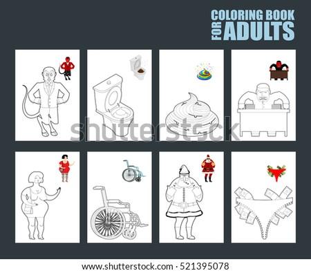 Adult Coloring Book Humor Drawing Major Stock Illustration 521395078 ...