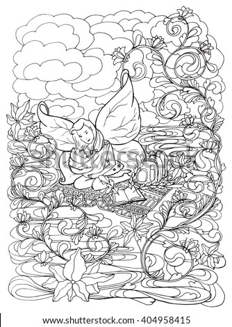 Adult Coloring Book Page Mother Breast Stock Illustration ...