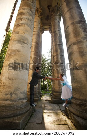 adult couple holding hands - stock photo