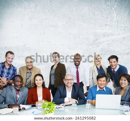 Adult Group of People Occupation Smiling  Concept - stock photo