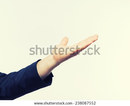 adult man hand to hold something - stock photo