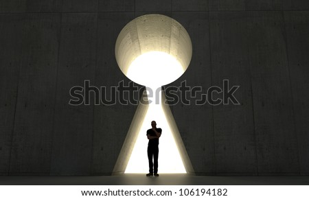 adult man thinking for solutions - stock photo