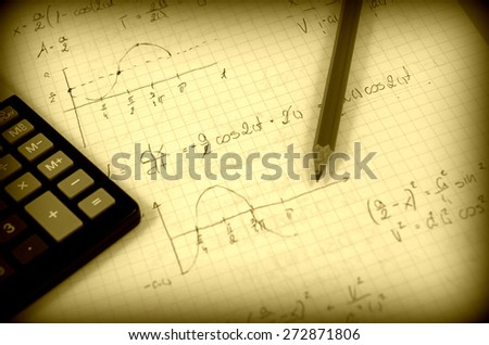 Advanced physics and maths notes (handwriting)