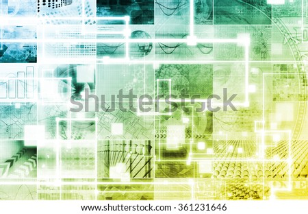Advanced Technology and Industrial Manufacturing as Art - stock photo