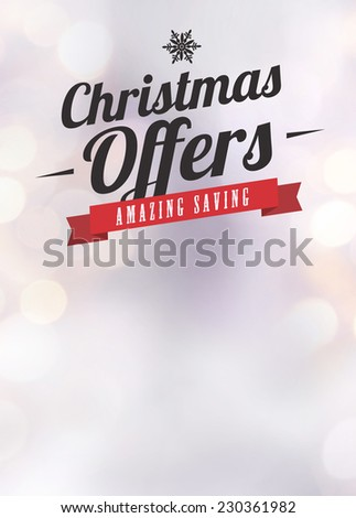Advent or christmas offer and sale advert poster or flyer background with empty space - stock photo