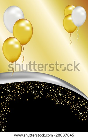 Advertise black tie affairs with this simple but elegant background. Also excellent for anniversary celebrations. - stock photo