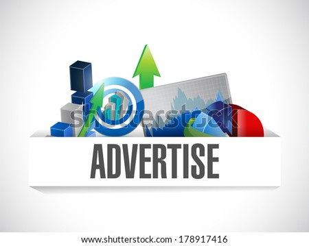 advertise business illustration design over a white background