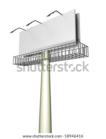 Advertise here and everyone will notice - stock photo