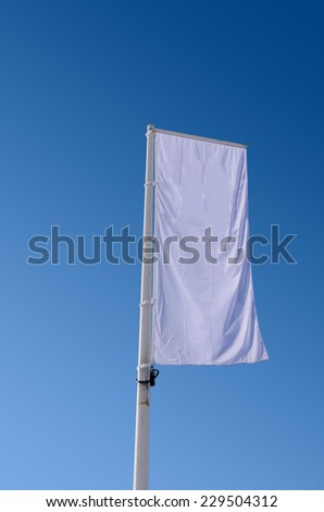 Advertisement banner in white. Copy space for your messages and promotions - stock photo