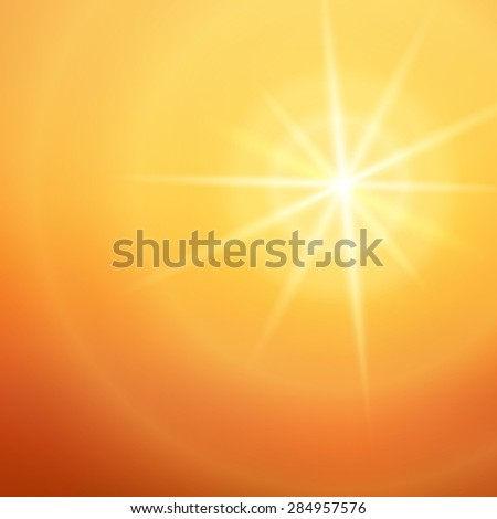 Advertisement design elements. Yellow background with elegant graphic sun star bright light rays from. Gorgeous graphic illustration for template brochure, layout leaflet, newsletters