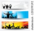 Advertising banner for sports championships and concerts. Raster version - stock photo