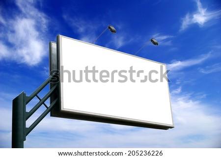 advertising billboard - stock photo