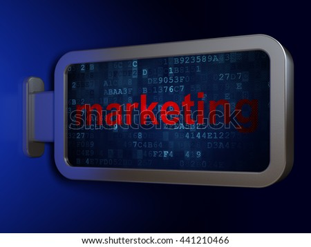 Advertising concept: Marketing on advertising billboard background, 3D rendering - stock photo