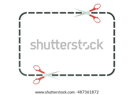 Advertising coupon or coupon border, 3D rendering