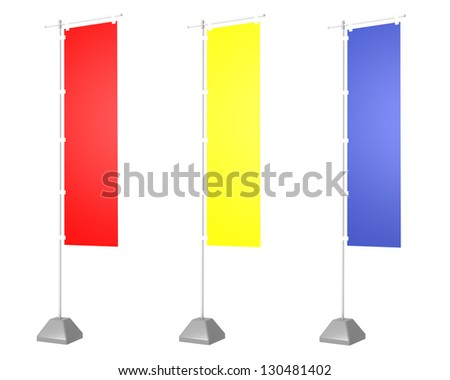 advertising flag - stock photo