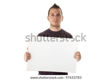 advertising guy - stock photo