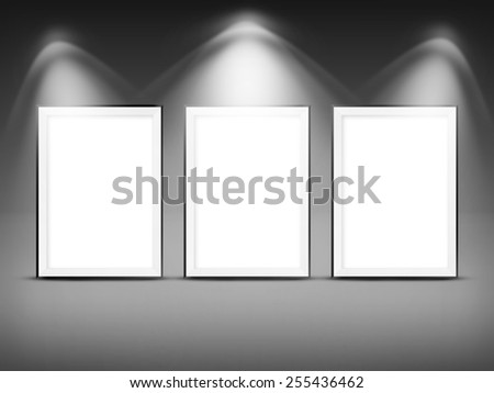 Advertising space. Frame for picture or copy space. - stock photo