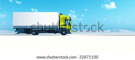 advertising space on a nice long vehicle - stock photo