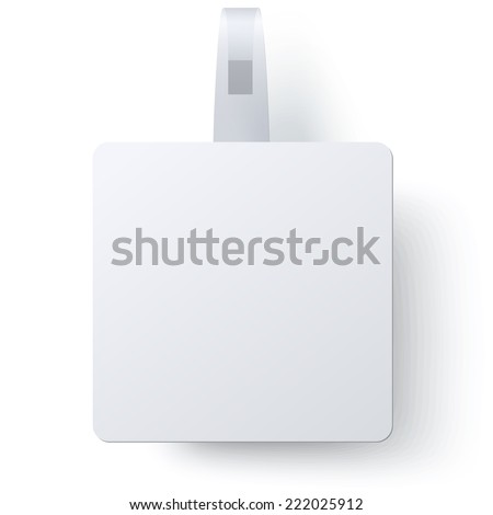 Advertising square wobbler isolated on white background. Raster version illustration.  - stock photo