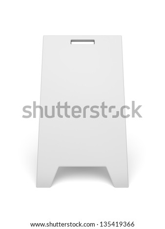 Advertising stand on white background - stock photo