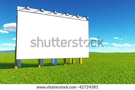 advertising wall - stock photo