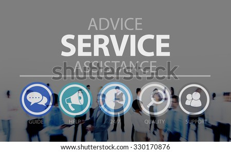 Advice Service Assistance Consultant Support Help Concept - stock photo