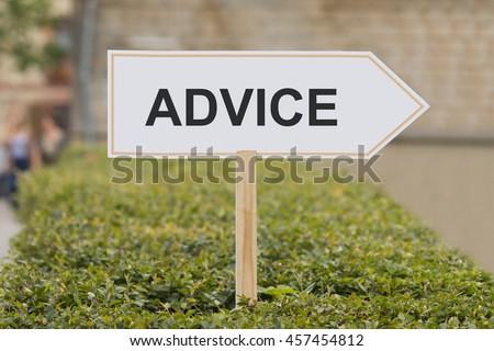 advice signpost - stock photo