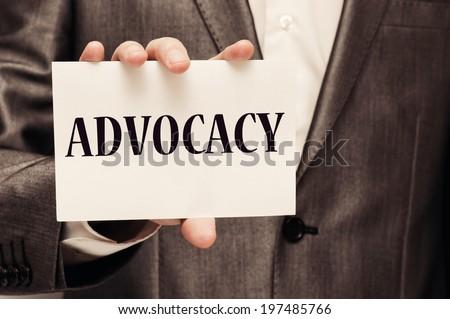 Advocacy concept - stock photo