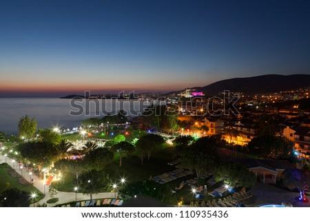 Aegean coast - Recreaiton area and beach - stock photo