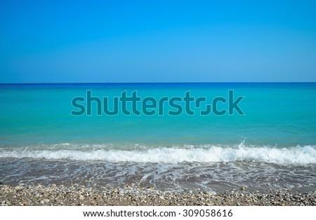 Aegean sea - stock photo