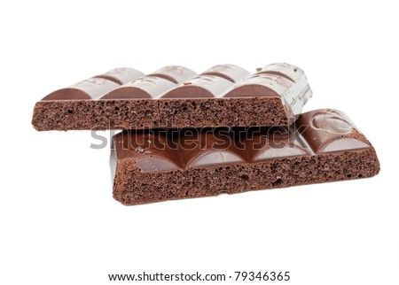 Aerated black chocolate
