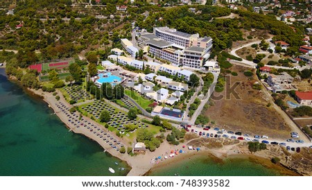 Aerial Birds Eye Photo Taken With Drone Of Tropical Resort