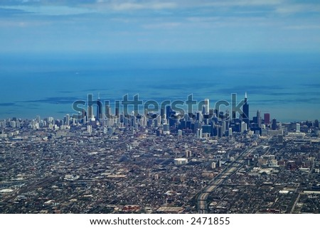 Aerial Chicago - stock photo