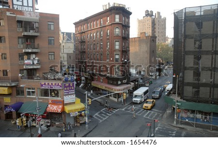 aerial chinatown - stock photo