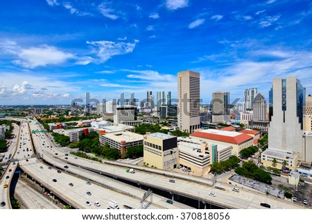 Aerial image of Downtown Miami FL