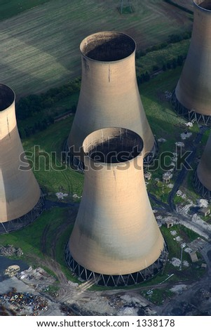 Aerial of High Marnham Power Station - stock photo