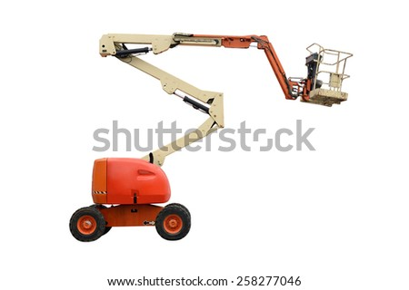 aerial platform isolated on white background - stock photo