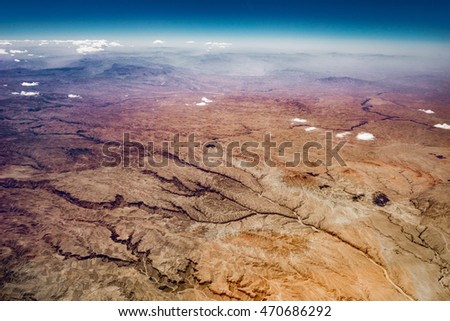 Aerial view and landscape of Samangan Province, Afghanistan