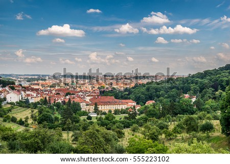Aerial view from Prague