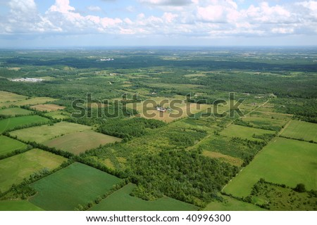 Aerial view in Canada (1) - stock photo